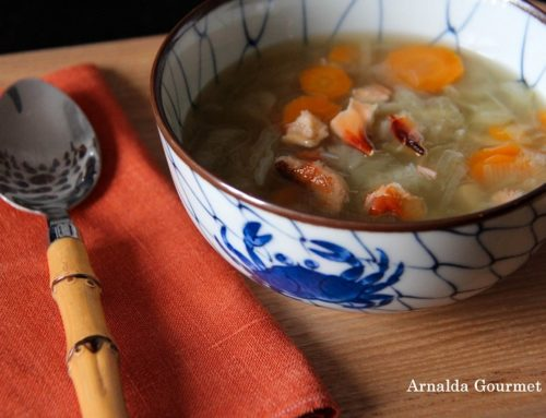 Zuppa di porri, granchio e zenzero per combattere il raffreddore